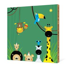 Welcome to the Jungle Bamboo Wall Art by Paper Culture