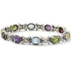 Multi-Gemstone Sterling Silver Bracelet, http://www.luvocracy.com/SamanthaMars/collections/make-me-sparkle