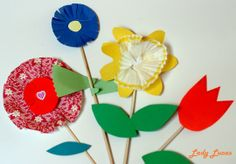 DIY Spring Flowers - Paper Blooms by Lady Lucas on Cupcakes + Owls