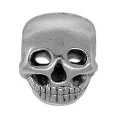 10x12mm Pewter Large Hole Skull Bead $3.95