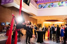 Down To Earth Aerials provided performers for the gala. Everything—from the food to the bar to the DJ to...