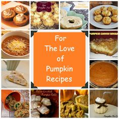 For The Love of Pumpkin Recipes