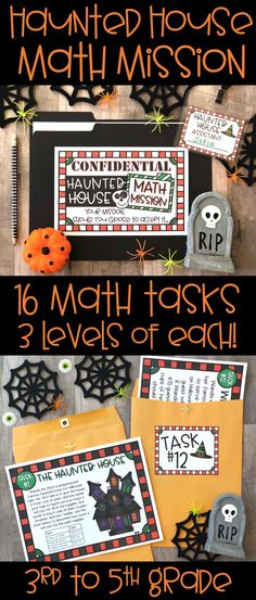 Get students excited about math and problem solvin 3rd Grade Activities, Fun Activities, Holiday Activities, Teaching 5th Grade, Halloween Activities, Teaching Math, Halloween Math, Halloween Season, Math Classroom