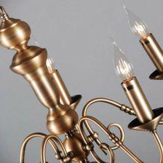 Lámpara de araña OLD DUTCH 5 bronce - Candelabro clásico de araña en color bronce mate.Esta lámpara es muy moderna, perfecta para la iluminación de su casa.