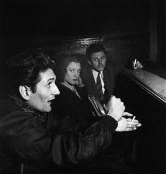 Robert Doisneau .Henri Pichette repeated epiphanies at Theatre Party People, Paris 1947.