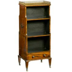 George III Rosewood Miniature Double-Sided Waterfall Bookcase | From a unique collection of antique and modern bookcases at http://www.1stdibs.com/furniture/storage-case-pieces/bookcases/