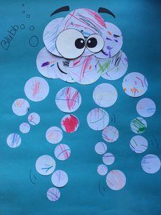 Qualle (aus den Papierkritzeleien der Kleinkinder)