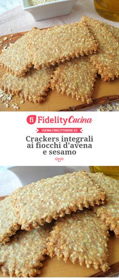Raw Food Recipes, Veggie Recipes, Gluten Free Recipes, Italian Recipes, Healthy Recipes, Crackers, Yummy Food, Tasty, Biscuit Cookies