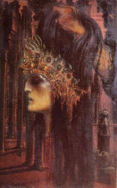 "Jean Delville  Belgium 1867 - 1953 ""End Of A Reign"""