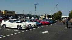 Group photo of Mazda MX-3 meet. @mazdausa.