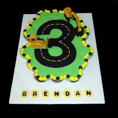 Brendans construction 3rd birthday cupcake