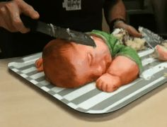 violent - this is a baby shower cake!!