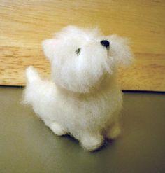 OOAK HANDMADE NEEDLE FELTED West Highland White Terrier Dog