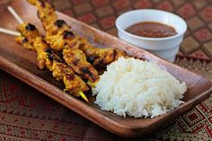 Chasing Some Blue Sky: Chicken Satay and Sticky Rice