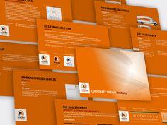 Ein Unternehmen der Metallbaubranche benötigte ein neues, zeitgemäßes Corporate Design. Hierfür wurden die Firmenfarben, die Schriftarten und andere Gestaltungsmerkmale festgelegt und in einem Corporate Design Manual übersichtlich zusammengetragen.