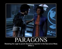 I always punch her anyway, there's lots more opportunities to get paragon points!