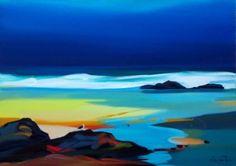 Pam CARTER artist, paintings and art at the Red Rag Scottish Art Gallery Glasgow School Of Art, Sky Art, Seascape Paintings, Beach Art, Cool Artwork, Pastel, Landscape Art, Contemporary Artists, Art Gallery