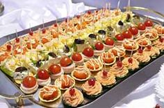 luxury wedding food | Wedding Finger Food Reception | Wedding Food Menu LOOKS LIKE SALMON CANAPES.....