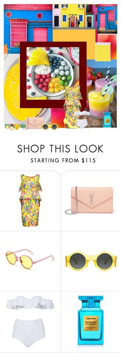"""Colour up your life"" by katelyn999 ❤ liked on Polyvore featuring Moschino, Yves Saint Laurent, RetroSuperFuture, Dries Van Noten, Tom Ford and Manolo Blahnik"