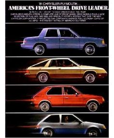 1981 Chrysler-Plymouth, Front Wheel Drive Leaders
