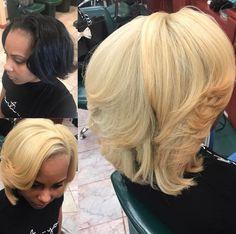 Blonde for spring by @salonchristol - https://blackhairinformation.com/hairstyle-gallery/blonde-spring-salonchristol/