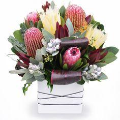 Native Glory - This unique arrangement consists of some famous Australian flora like leucadendron, banksia, protea and fabulous foliage.