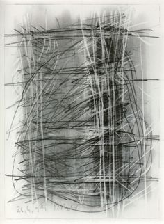 This scribbling technique with different values of charcoal is very powerful in creating a very busy, emotive sketch, that whilst there is not a lot of definition still conveys information to the viewer.