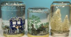 How to make an easy DIY gift by turning a mason jar into a snow globe.