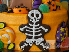 Skeleton from gingerbread cookie cutter