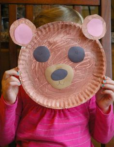 Fuzzy Brown Bear Craft for Kids