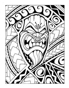 Samoan_Tiki__b_w_by_Mr_Tasi.jpg (600×772)