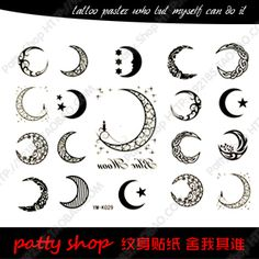 small moon tattoos - Google Search