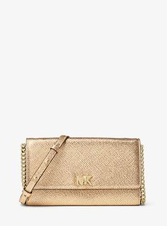 63a00d28c96c3 MICHAEL MICHAEL KORS MOTT METALLIC LEATHER CROSSBODY.  michaelmichaelkors   bags  shoulder bags  leather  crossbody  metallic