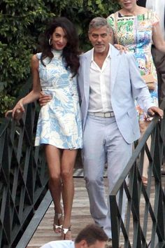What: A light blue Miu Miu dressWhen: July 30, 2015Where: Lake Como, Italy