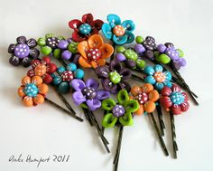 Polymer Clay Hairpins