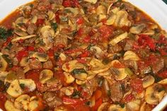 Mushroom Sauteed Minced Recipe Healthy and Tasty Paella, Turkish Recipes, Ethnic Recipes, Vegetarian Recipes, Healthy Recipes, Sauteed Mushrooms, Vegetable Pizza, Food And Drink, Yummy Food