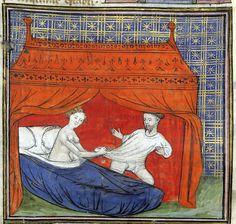 seduction of Lancelot 'Le livre de Lancelot du Lac', France ca. 1401-1425. Paris, Bibliothèque de l'Arsenal 3480, p. 33