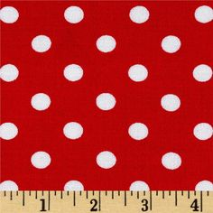 Rayon Challis Small Dots Red White from @fabricdotcom  This rayon fabric has a beautiful fluid drape and soft hand. It is perfect for creating shirts, blouses, gathered skirts and flowing dresses with a lining. Colors include red and white.