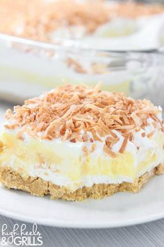Coconut Cream Dreamboat Dessert is a no-bake dessert made of layers of Golden Oreo, cream cheese/Cool Whip, Coconut pudding, Cool Whip, and toasted coconut.
