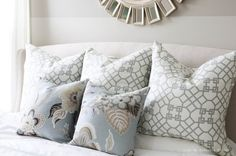 Modern DIY Accent Pillows Geometric Motive With Floral Pillow