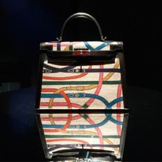 671a6679e6 Hermes Multicolor Printed Washed Canvas Kelly Bag spring summer 2017 Hand Bags  2017