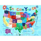 Found it at Wayfair - Oh Say Can You See USA Map Canvas Art