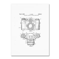 Claire Doherty 'Photographic Camera Patent 1962 ' Wall Art