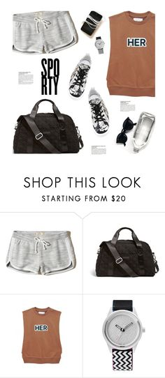 """Sporty"" by magdafunk ❤ liked on Polyvore featuring Hollister Co., Vera Bradley, McGinn, SmileSolar, N°21, sporty, embellishedshoes and embellishedsneakers"