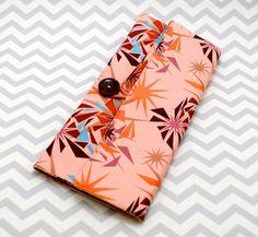 Circular Knitting Needle Case - Pink and Orange Anna Maria Horner Fabric