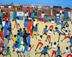 Township art by South African artist Katherine Ambrose