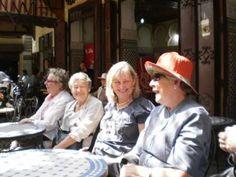 Fez, Morocco mint tea and people watching Creative Arts Safaris - Moorish Delights of Andalusia & Morocco