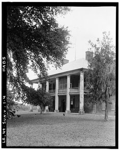 4.  Historic American Buildings Survey Richard Koch, Photographer August, 1936 FRONT ELEVATION FROM SOUTHEAST - Chretien Point Plantation, Sunset, St. Landry Parish, LA