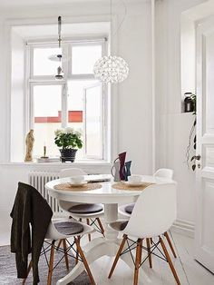 I love this cozy little space. Shop Eames Side Chairs at SmartFurniture.com