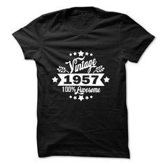 VINTAGE 1957 Tshirt - #bridesmaid gift #grandma gift. TRY => https://www.sunfrog.com/Birth-Years/VINTAGE-1957-Tshirt-53727570-Guys.html?68278